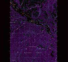 USGS Topo Map Washington State WA Bailey Creek 239921 1988 24000 Inverted by wetdryvac