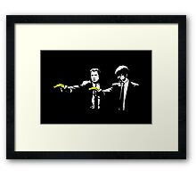 Pulp Fiction Bananas Framed Print