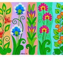 FANTASY FLOWERS 2 OF 10 - GOUACHE by RainbowArt