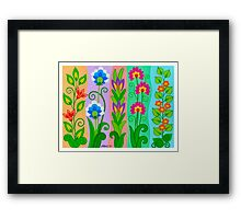 FANTASY FLOWERS 2 OF 10 - GOUACHE Framed Print