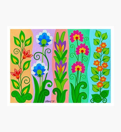 FANTASY FLOWERS 2 OF 10 - GOUACHE Photographic Print