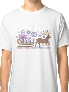 Knitted pattern reindeer  Classic T-Shirt