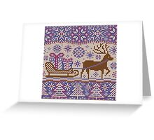 Knitted pattern reindeer  Greeting Card