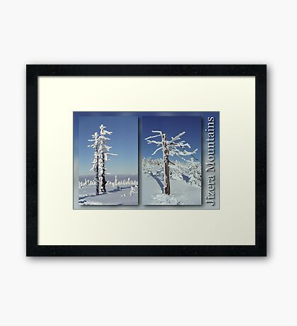 A diamond-dust day at the Smrk mountain (diptych) Framed Print