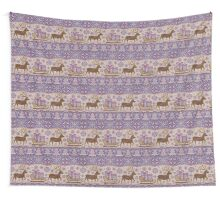 Knitted pattern reindeer  Wall Tapestry