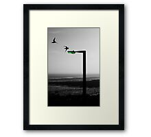 TIME. (Chalkwell, Southend) Framed Print