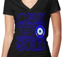 OG evil eye Women's Fitted V-Neck T-Shirt