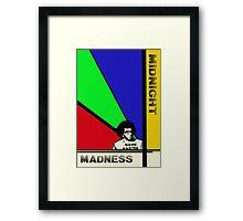 Midnight Madness minimalist movie poster Framed Print