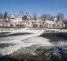 Winter water rush - Almonte, Ontario by Josef Pittner