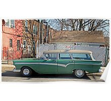Old Station Wagon Poster