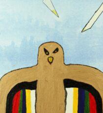 Dancing Robot Bird T Shirt Sticker