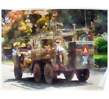 Army Jeep in Parade Poster
