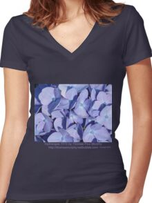 Hydrangea 7015 Women's Fitted V-Neck T-Shirt
