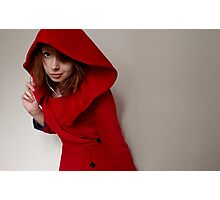 Little Red Riding Hood Coat Photographic Print