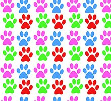 colorful animal paws by nadil
