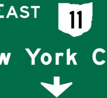 New York City Highway Sign, USA Sticker