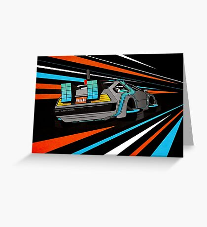 Delorean Time Flux - Orange Greeting Card