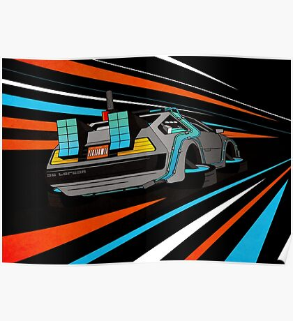 Delorean Time Flux - Orange Poster