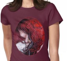 my heart soars like a blood red artifact Womens Fitted T-Shirt
