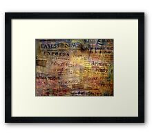 Read All About It Framed Print