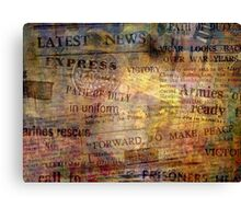 Read All About It Canvas Print