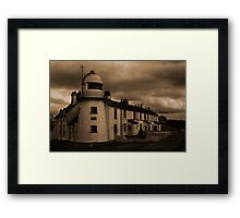 Paull Lighthouse in Sepia Framed Print