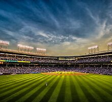 New Wrigley Field View at dusk  by Sven Brogren