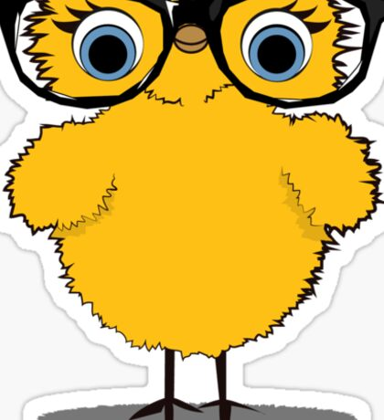 Geek Chic Chick Sticker