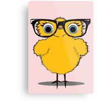 Geek Chic Chick Metal Print