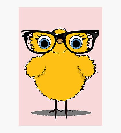 Geek Chic Chick Photographic Print