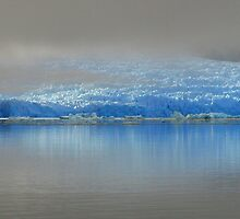 Blue Glacier in Early Morning Fog by Laurel Talabere