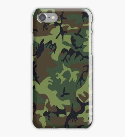 U.S. Woodland Camo Pattern iPhone Case/Skin