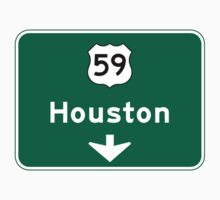 Houston, TX Road Sign, USA Kids Clothes