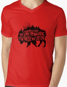 The earth has music for those who listen Mens V-Neck T-Shirt