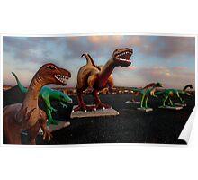 Jim Grey's Petrified Wood Company Dinosaurs Poster