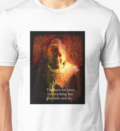 Buddha Joy Quote Unisex T-Shirt