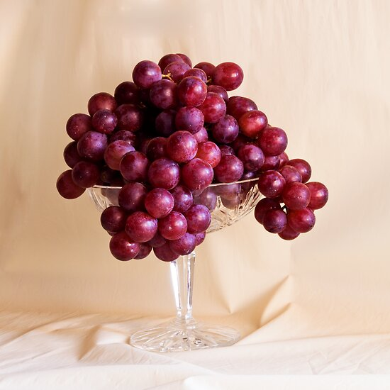 Grapes And Crystal by Sandra Foster