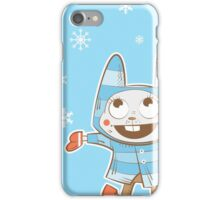 Winter card with rabbit. iPhone Case/Skin
