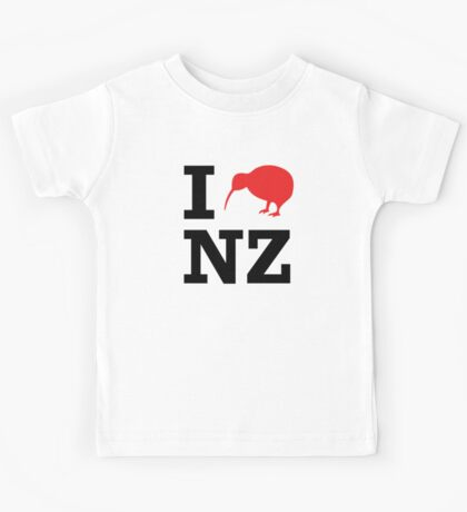 I Love New Zealand (Kiwi) Kids Tee