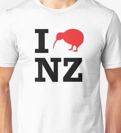 I Love New Zealand (Kiwi) T-Shirt