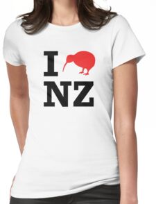 I Love New Zealand (Kiwi) Womens Fitted T-Shirt