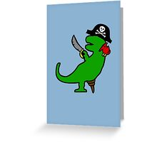 Pirate Dinosaur - T-Rex Greeting Card