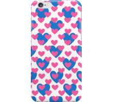 Pink and Blue Hearts iPhone Case/Skin