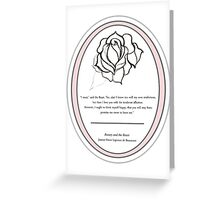 The Magic Rose- Beauty and the Beast fairy tale  Greeting Card