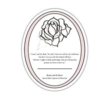 The Magic Rose- Beauty and the Beast fairy tale  Photographic Print