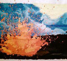 Fingerpainting Lava by Elizabeth De La Cruz