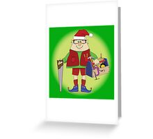 Will Work For Milk and Cookies Elf Greeting Card
