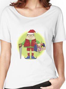 Will Work For Milk and Cookies Elf Women's Relaxed Fit T-Shirt