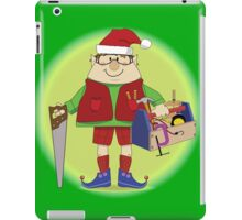 Will Work For Milk and Cookies Elf iPad Case/Skin