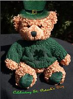 Teddy celebrating St. Patrick's Day by Bev Pascoe